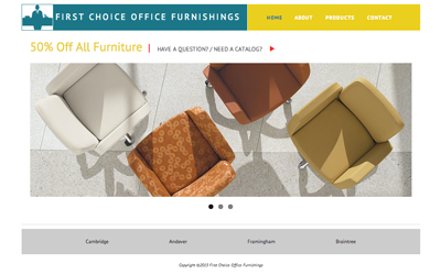 First in Office Furniture website